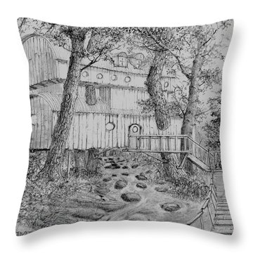 Tree House #5 Throw Pillow