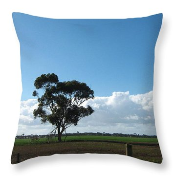 Tree In Field Throw Pillow