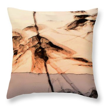 Tree In Morning Throw Pillow