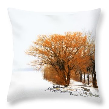 Tree In The Winter Throw Pillow