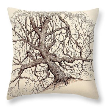Tree In Winter II Throw Pillow