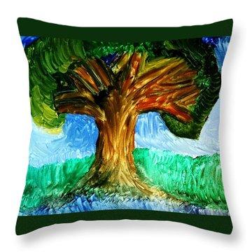 Tree Island  Throw Pillow