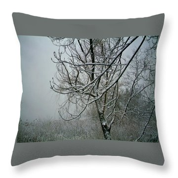 Throw Pillow featuring the photograph Tree Lace Three by Desline Vitto