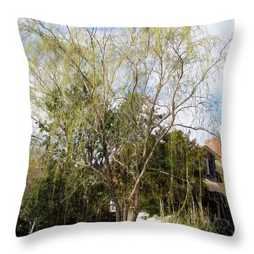 Tree Throw Pillow by Lanjee Chee
