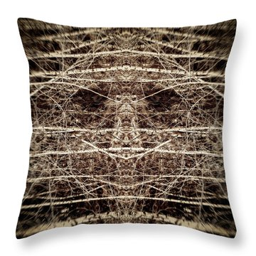 Tree Mask Throw Pillow by Wim Lanclus