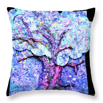 Throw Pillow featuring the painting Tree Menagerie by Genevieve Esson