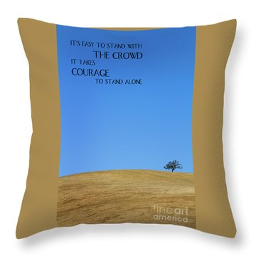 Tree Of Courage Throw Pillow