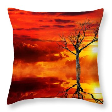 Tree Of Destruction Throw Pillow