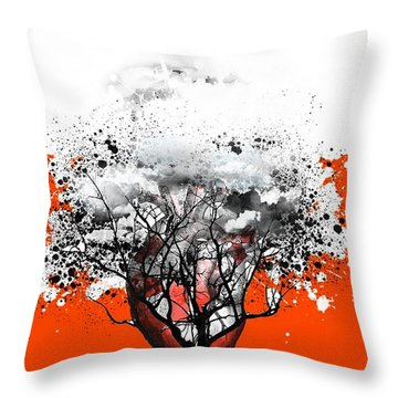 Tree Of Feelings Throw Pillow