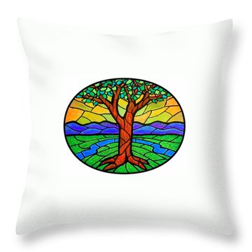 Tree Of Grace - Summer Throw Pillow