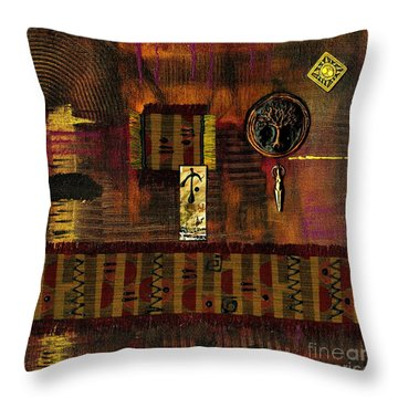 Tree Of Life Throw Pillow by Angela L Walker