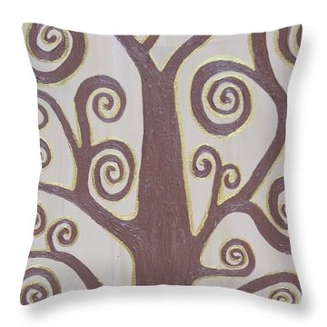 Tree Of Life Throw Pillow by Angelina Vick