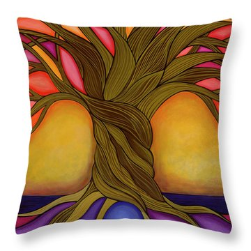 Throw Pillow featuring the painting Tree Of Life by Carla Bank