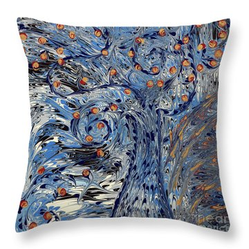 Tree Of Life  Throw Pillow by Cathy Beharriell