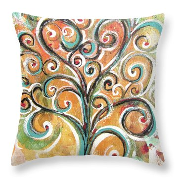 Tree Of Life Throw Pillow by Chris Hobel