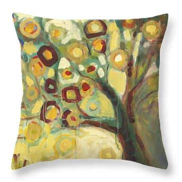 Tree Of Life In Autumn Throw Pillow