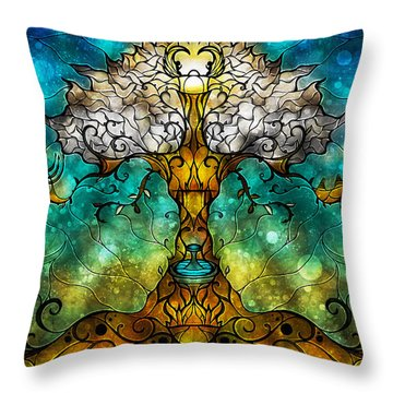 Tree Of Life Throw Pillow by Mandie Manzano