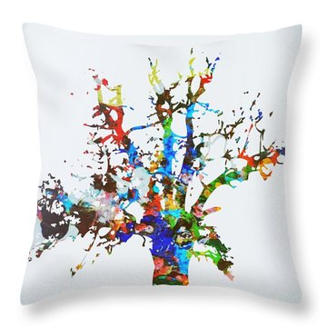 Throw Pillow featuring the painting Tree Of Life by Mark Taylor