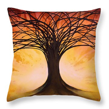 Tree Of Life Throw Pillow by Michael Lang