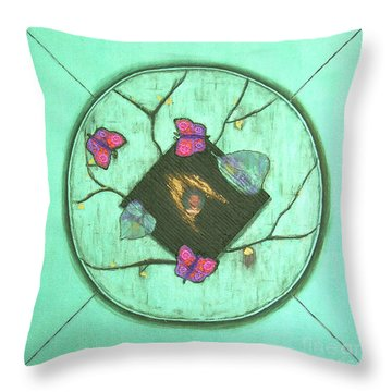 Throw Pillow featuring the painting Tree Of Life by Mini Arora