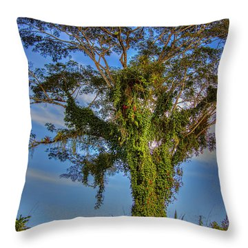 Tree Of Life Throw Pillow by Nadia Sanowar