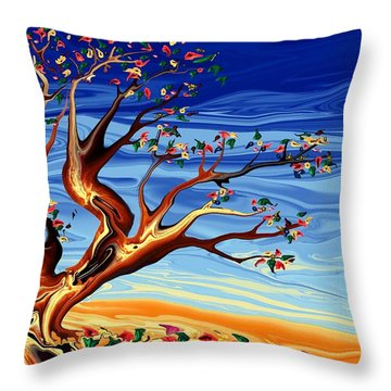 Tree Of Life Throw Pillow by Robin Monroe