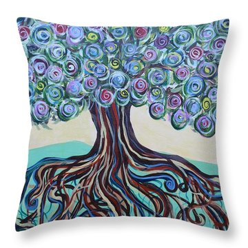 Tree Of Life-spring Throw Pillow