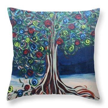 Tree Of Life - Summer Throw Pillow