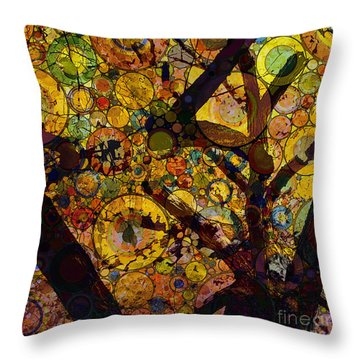 Throw Pillow featuring the digital art Tree Of Prosperity by Klara Acel