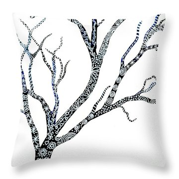 Tree Of Strength Throw Pillow