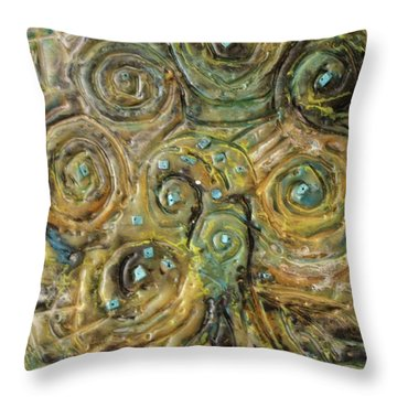 Tree Of Swirls Throw Pillow