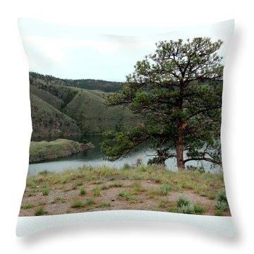 Tree On Missouri River Bluff Throw Pillow