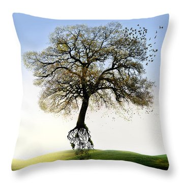 Tree On The Move Throw Pillow