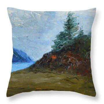 Tree On Turnagain Throw Pillow