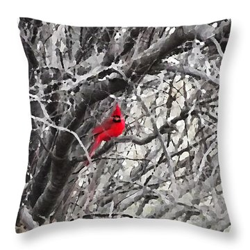 Tree Ornament Throw Pillow