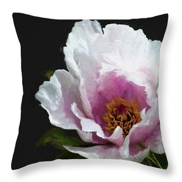 Tree Paeony I Throw Pillow