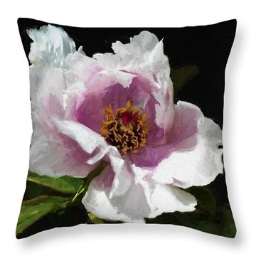 Tree Paeony II Throw Pillow