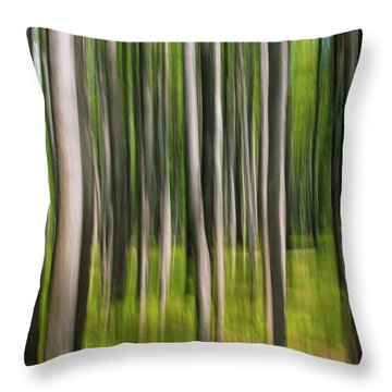 Tree Painting Throw Pillow