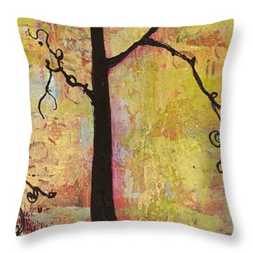 Tree Print Triptych Section 2 Throw Pillow by Blenda Studio