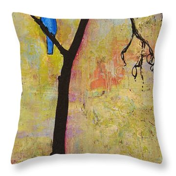 Tree Print Triptych Section 3 Throw Pillow by Blenda Studio