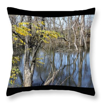 Tree Reflections Throw Pillow by Ellen Tully
