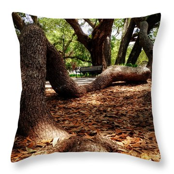 Tree Root Throw Pillow
