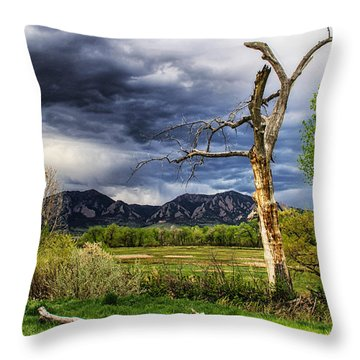 Tree Sculpture Throw Pillow