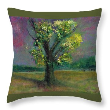 Tree Shadow Throw Pillow
