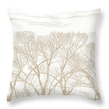 Throw Pillow featuring the photograph Trees Silhouette Brown by Jennie Marie Schell