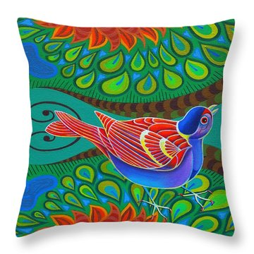 Tree Sparrow Throw Pillow by Jane Tattersfield