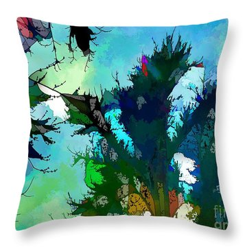 Tree Spirit Abstract Digital Painting Throw Pillow