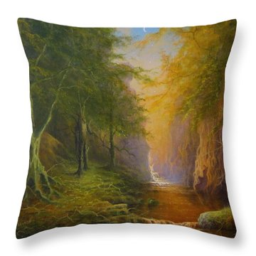 Fairytale Forest Tree Spirit Throw Pillow