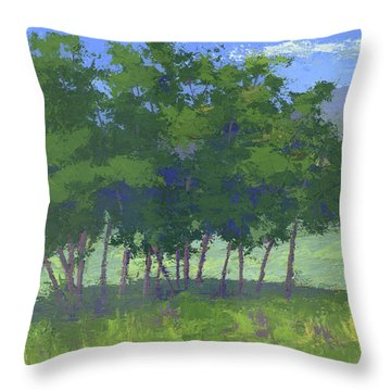 Tree Stand Throw Pillow