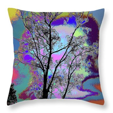 Tree - Story Of Life Throw Pillow